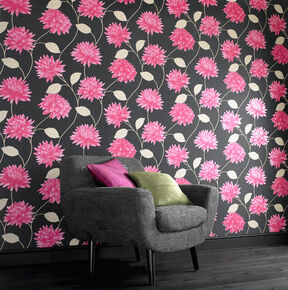Large Romance Black And Pink Wallpaper