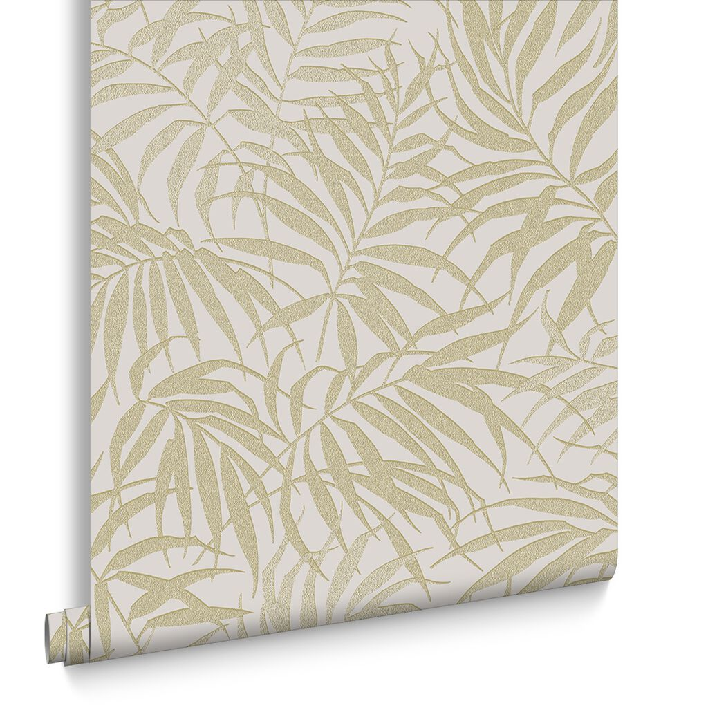 Tropic beige and gold wallpaper graham brown for Beige living room wallpaper