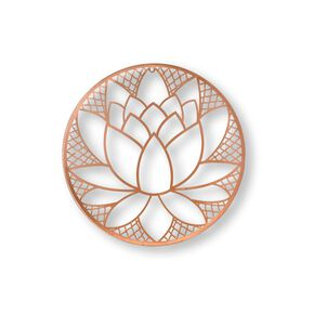 Copper Lotus Blossom Metal Art, , large