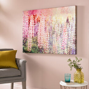 Bright Metallic Meadow Printed Canvas, , large