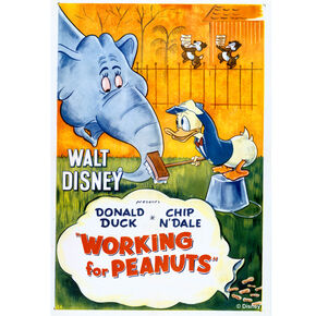 Donald Working For Peanuts Printed Canvas, , large