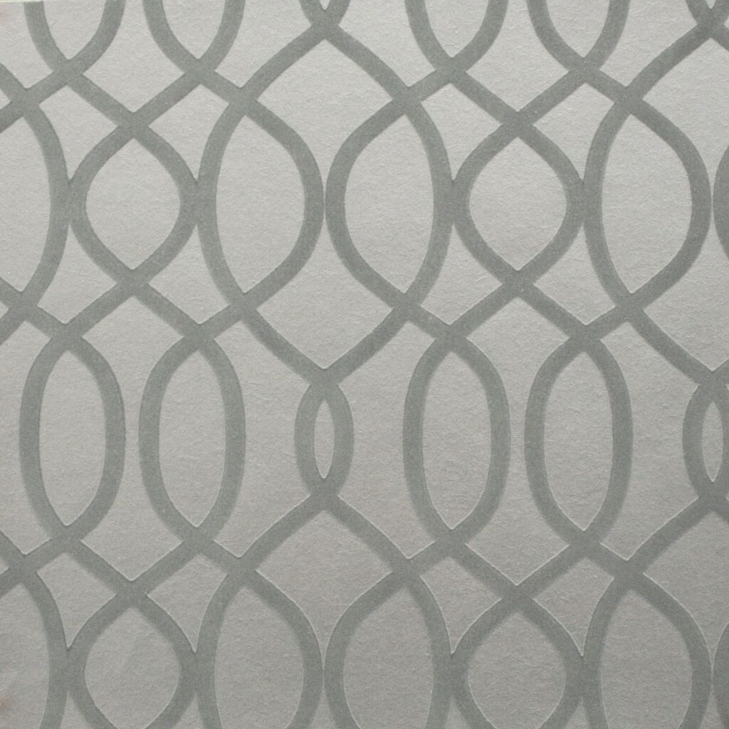 Knightsbridge Flock Pale Grey Wallpaper Graham Brown