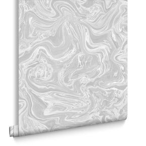 Marbled Grey And White Wallpaper