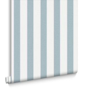 Ticking Stripe Skye Blue, , large