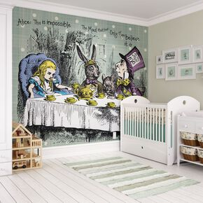Tea Party Digital Wall Mural, , large