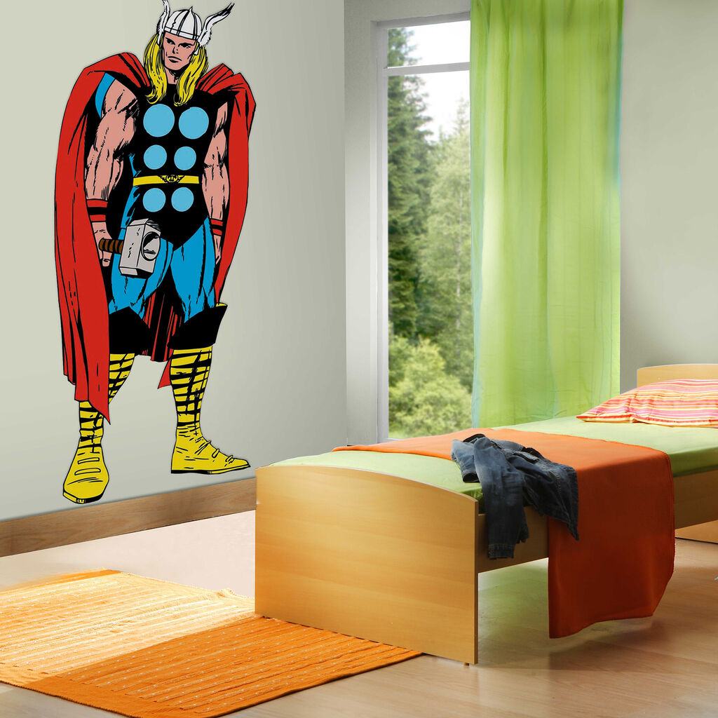 marvel comics life size thor wall sticker grahambrownuk