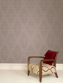 Jewel Taupe and Gold Wallpaper, , large