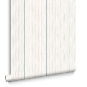 Stria Stripe Duckegg and White Wallpaper, , large
