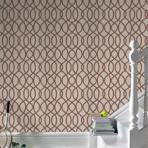 Knightsbridge Flock Taupe Wallpaper, , large