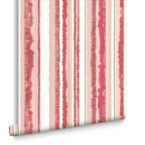 Romany Stripe Red Wallpaper, , large