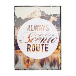 """Scenic Route"" bedrukt canvas, , large"