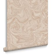 Marbled Pebble & Rose Gold Behang, , large