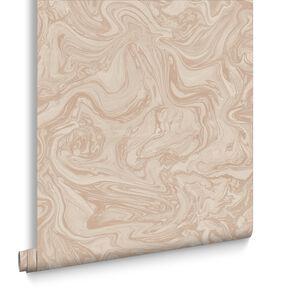 Pebble Rose Gold Wallpaper Marbled Wallpaper Graham