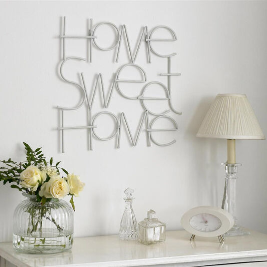 D co murale m tal sweet home grahambrownfr for Decoration murale home