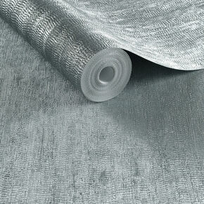 Water Silk Plain Teal Wallpaper, , large