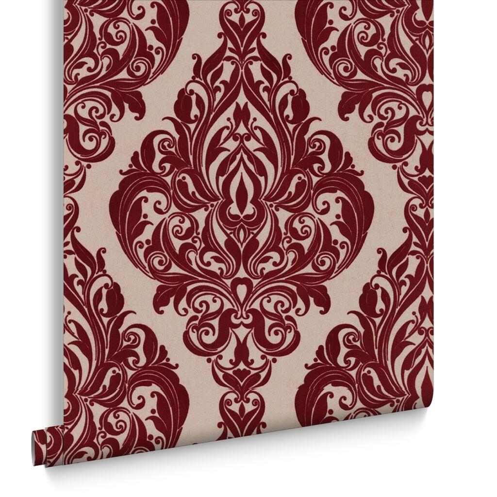 Kinky Vintage Bordeaux Bordello Wallpaper Grahambrownus