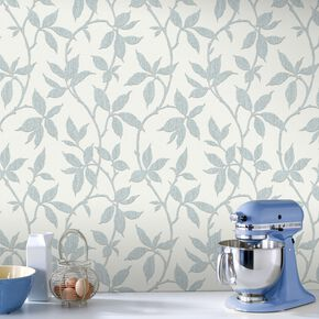 Elisa Duck Egg Wallpaper, , large