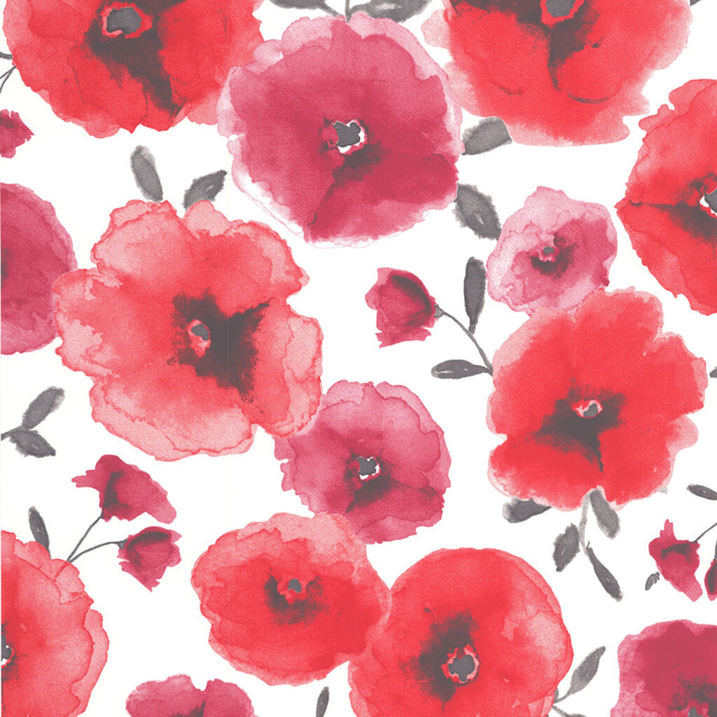 poppies red wallpaper floral wallpaper graham amp brown