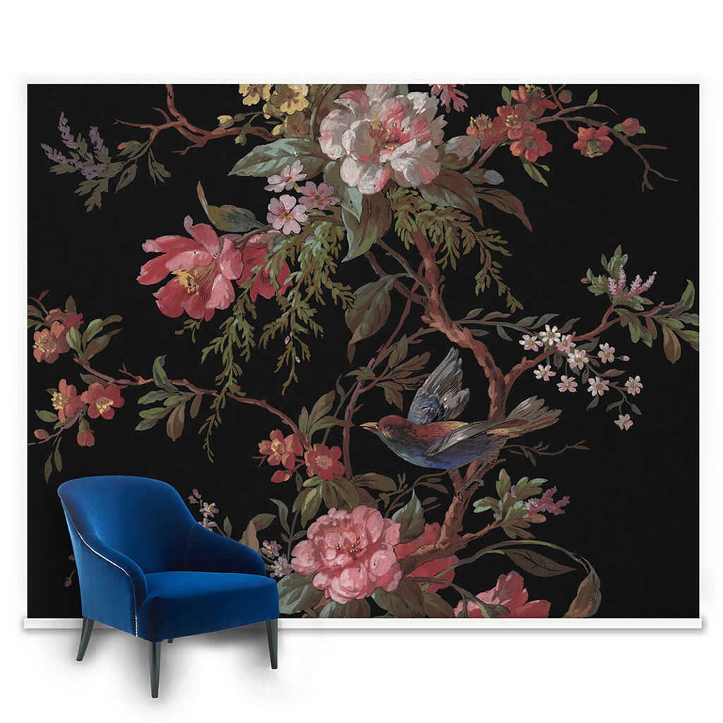 Venetian floral mural grahambrownuk for Mural flower