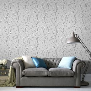 Karma Grey Wallpaper, , large