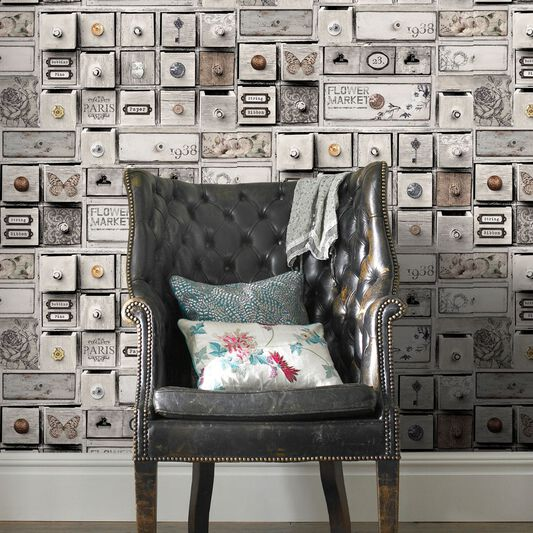 Fresco Trinket Box Wallpaper Graham Amp Brown