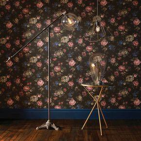 Antiqued Metal Floor Lamp, , large