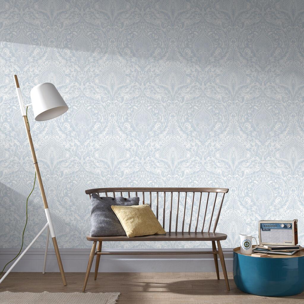 burlesque duck egg wallpaper graham brown. Black Bedroom Furniture Sets. Home Design Ideas