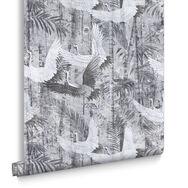 Crane Grey Wallpaper, , large
