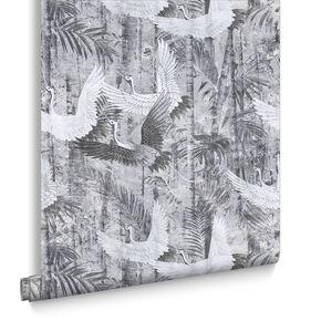 Crane Grey Behang, , large