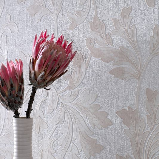 Acanthus Natural Wallpaper, , large