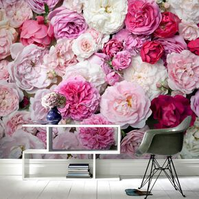 Pink Bouquet Mural, , large