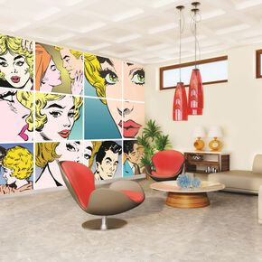 Pop Art Digital Wall Mural, , large