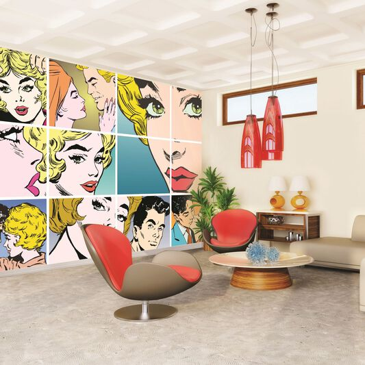 Pop art wall mural grahambrownuk for Pop wall art