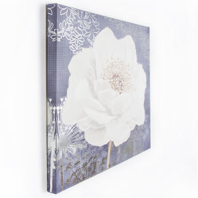 Lilac Bloom Printed Canvas, , large
