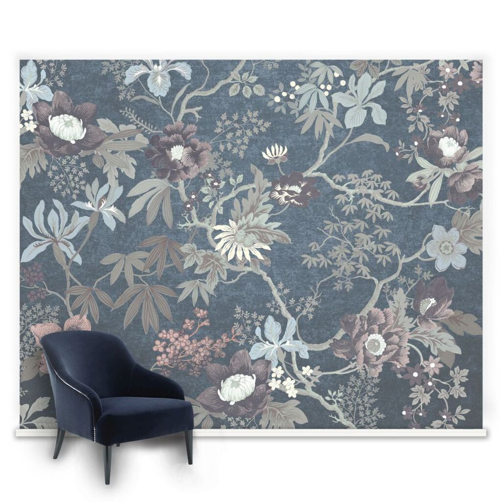 Wall murals featured mural wallpaper graham brown couture kimono teal mural amipublicfo Choice Image