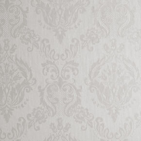 Damask Ivory Shimmer Wallpaper, , large