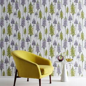 Foxglove LilacandLime Wallpaper, , large