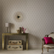 Ritzy Cream and Gold Wallpaper, , large