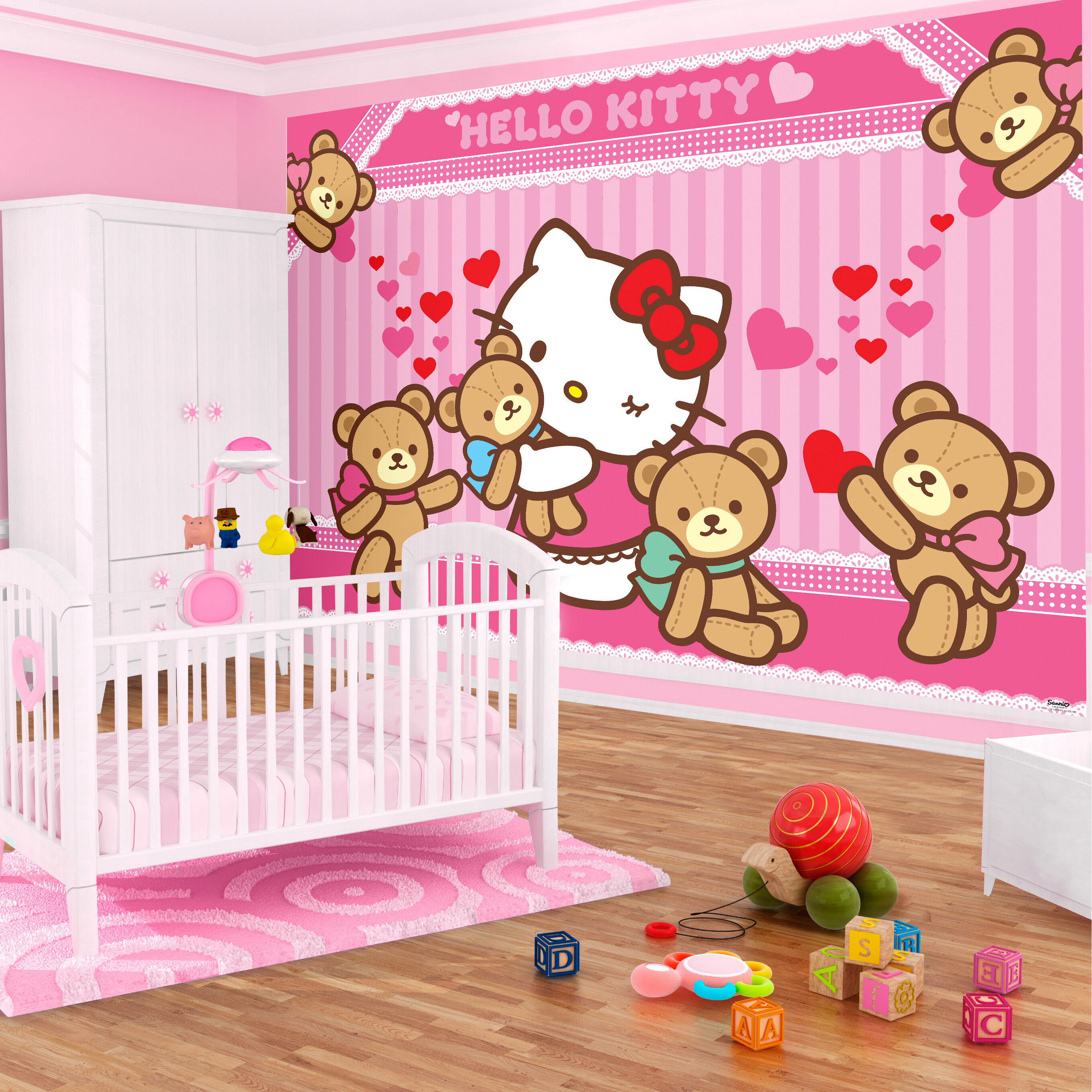 Hello Kitty Wall Mural, , Large ... Part 34
