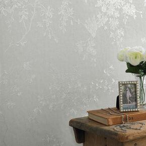 Spring Blossom Silver Mist Wallpaper, , large