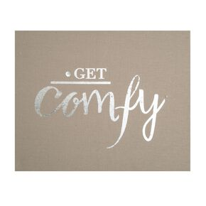 Get Comfy Embellished Fabric Canvas, , large