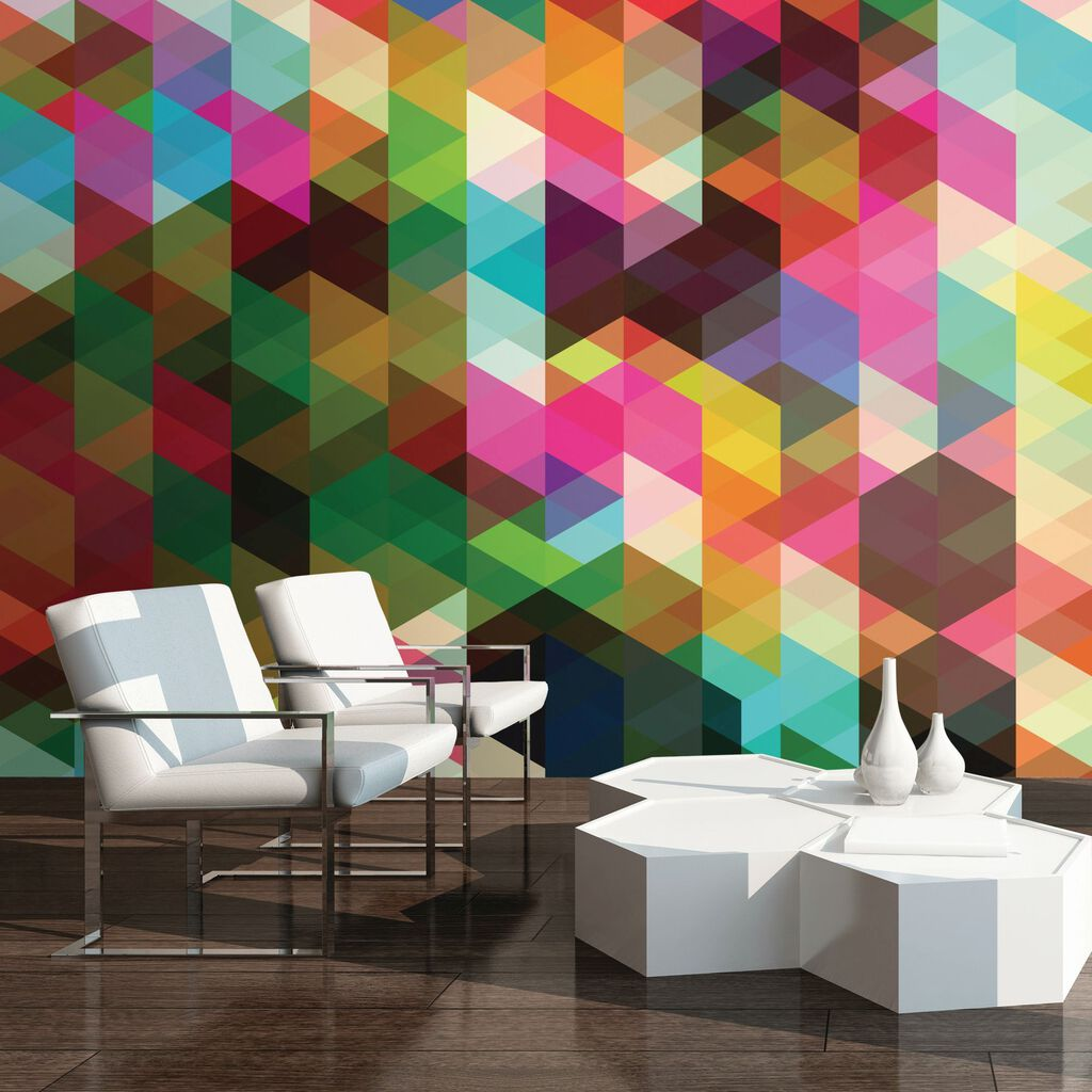 Childrens feature walls geometrix wall mural large amipublicfo Gallery