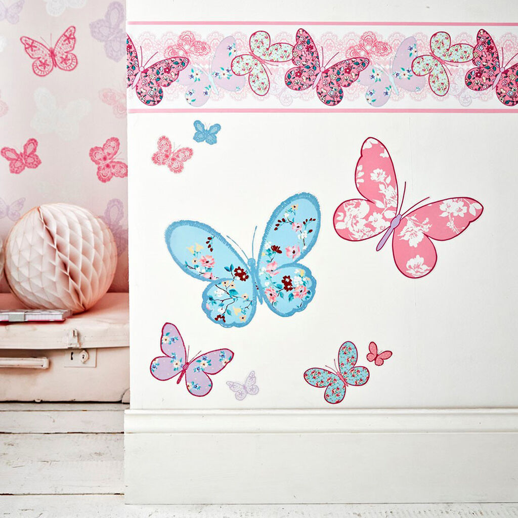 childrens wall stickers kids princess spiderman wall stickers butterfly stickers large
