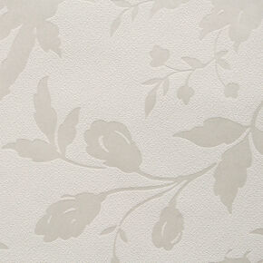 Botanic White Wallpaper, , large