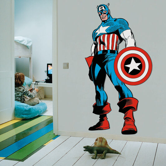 marvel comics life size captain america wall sticker