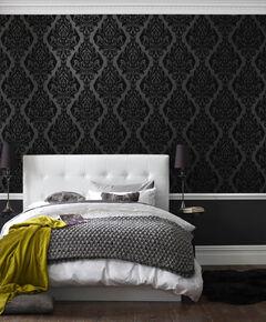 black wallpaper plain patterned wallpaper