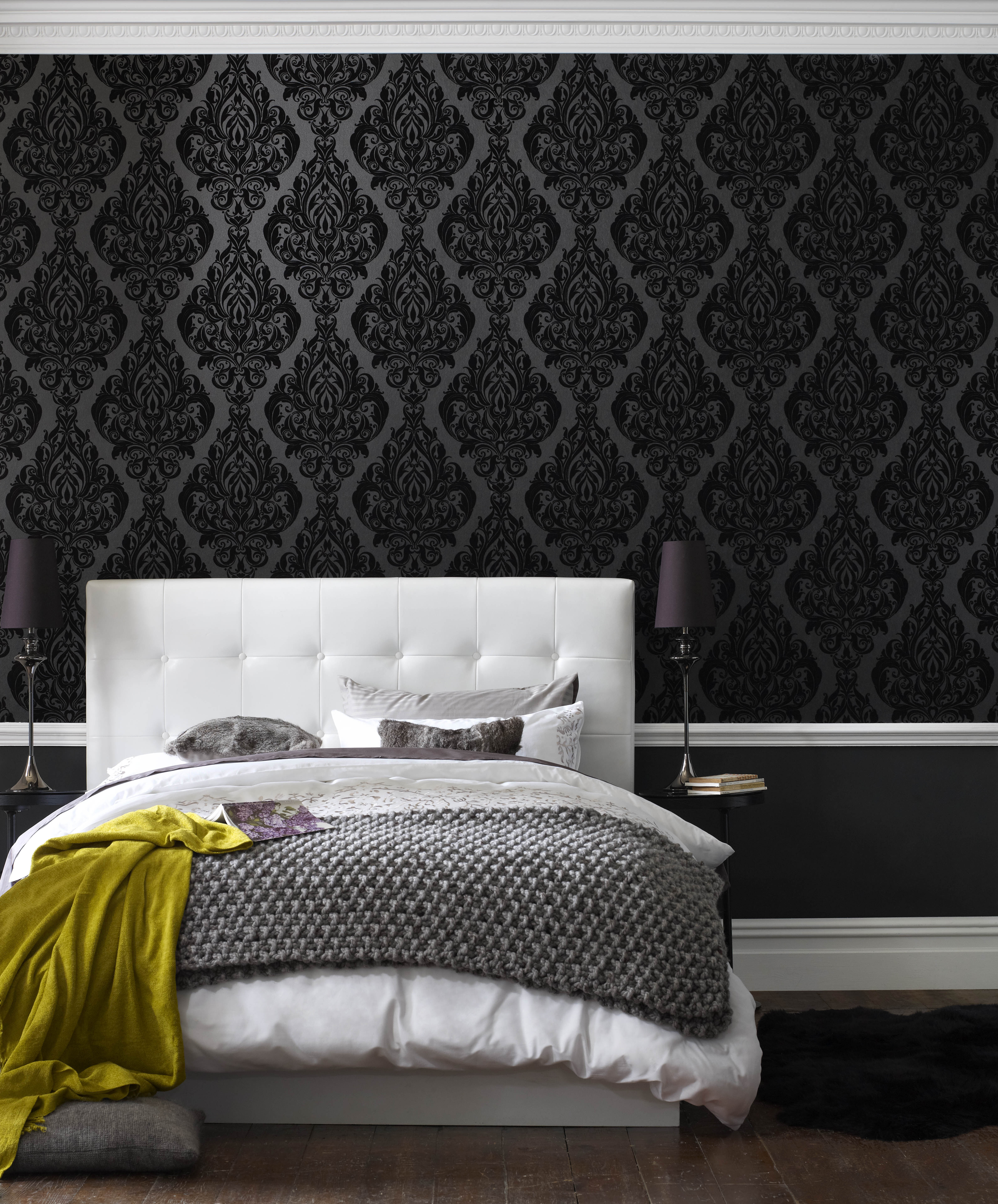 Exceptional ... Large Kinky Vintage Naughty Noir Wallpaper, ...
