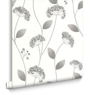 Claire Grey and White Wallpaper, , large