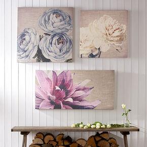 Cream Petals Fabric Canvas, , large