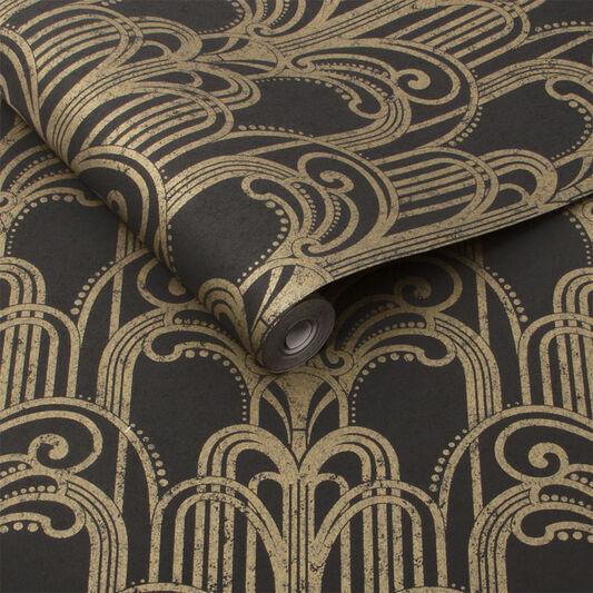 Art deco black and gold wallpaper grahambrownau for Art et decoration abonnement